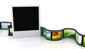 Lege foto met film stock illustratie