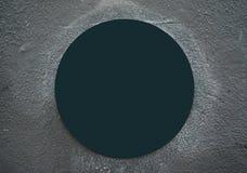 Lege foto van tekencirkel op het grijze beton stock afbeeldingen