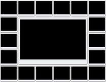 Lege fotoframes Stock Afbeeldingen