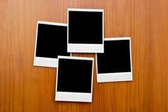 Lege fotoframes aan boord Royalty-vrije Stock Foto's