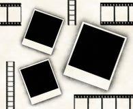 Lege fotoframes en filmstrook vector illustratie