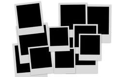 Lege fotoframes stapel Stock Afbeeldingen