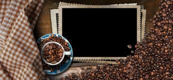 Lege Fotokaders voor een Koffiehuis Stock Foto's