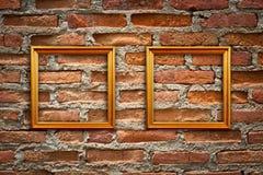 Lege frames in een ruimte stock afbeelding