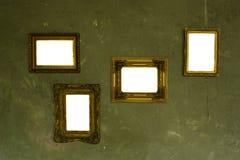 Lege frames op de muur Stock Fotografie