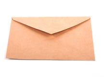 Lege geïsoleerde envelop Royalty-vrije Stock Fotografie