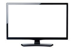 Lege geïsoleerde TV van de het schermmonitor royalty-vrije stock fotografie