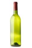 Lege geïsoleerdee wijnfles stock afbeelding