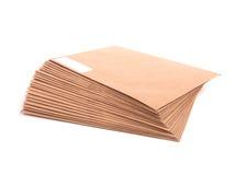Lege geïsoleerdes enveloppen Stock Fotografie