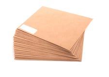 Lege geïsoleerdes enveloppen Royalty-vrije Stock Afbeeldingen