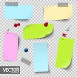 lege gekleurde documenten met toebehoren met vectortransparantie vector illustratie