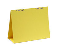 Lege gele kalender Stock Foto