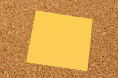 Lege gele kleverige nota Stock Fotografie