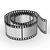 Lege gerolde film - Stock Fotografie