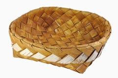 Lege gevlechte berk-schors brooddoos Stock Foto's