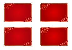 Lege giftkaarten Royalty-vrije Stock Foto's