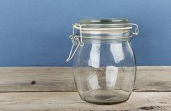 Lege glaskruik stock afbeeldingen
