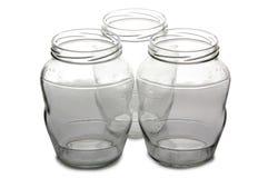 Lege glaskruiken twee Stock Foto