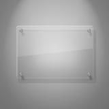 Lege glasplaat Stock Foto