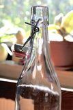 Lege glassbottle Stock Foto