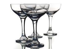 Lege glazen Royalty-vrije Stock Afbeelding