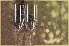 Lege glazen Vakantieillustratie, Stock Fotografie