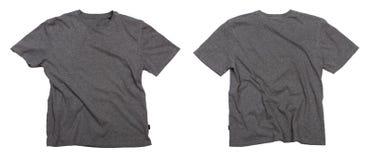 Lege grijze t-shirts. royalty-vrije stock afbeelding
