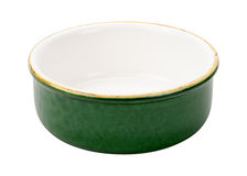 Lege Groene Ceramische Kom Royalty-vrije Stock Foto