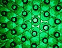 Lege groene fles Royalty-vrije Stock Afbeeldingen