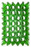 Lege groene glasflessen Royalty-vrije Stock Fotografie