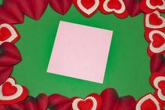 Lege groetkaarten voor de Dag van Valentine ` s Stock Fotografie