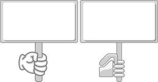 Lege hand - gehouden teken/aanplakbord royalty-vrije illustratie