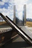 Lege Hemel: Stad 9/11 van Jersey Gedenkteken toont ijzerstraal van W T C , New Jersey, de V.S. Stock Foto