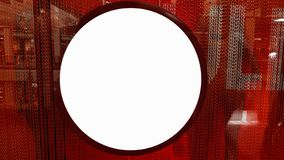 Lege het Malplaatje van de de Banneraffiche van de Kader Lege Reclame Onechte Omhooggaande Geïsoleerde het Knippen Weg stock afbeeldingen