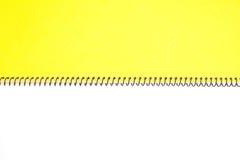 Lege het notitieboekje van het gezichts Witboek royalty-vrije stock foto's