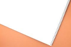 Lege het notitieboekje van het gezichts Witboek stock foto