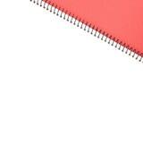 Lege het notitieboekje van het gezichts Witboek stock afbeelding