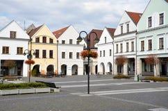 Lege hoek van Marian vierkant, een deel van historisch centrum van de stad Stock Foto's