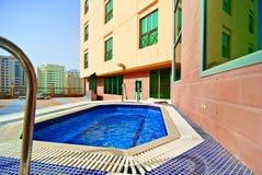 Lege hotelpool Royalty-vrije Stock Afbeeldingen