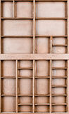 Lege houten bruine geschilderde zaad of brieven of collectibles vakje royalty-vrije stock foto's