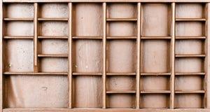 Lege houten bruine geschilderde zaad of brieven of collectibles vakje royalty-vrije stock afbeelding