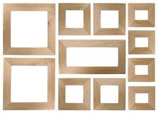 Lege houten frames royalty-vrije stock afbeeldingen