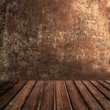 Lege houten lijst voor productvertoning Abstract Donker bruin col. Stock Afbeelding
