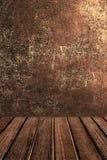 Lege houten lijst voor productvertoning Abstract Donker bruin col. Stock Fotografie