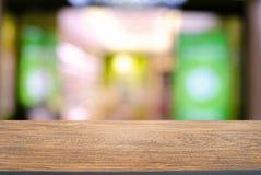 Lege houten lijst voor samenvatting vage achtergrond van mede Stock Foto