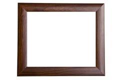 Lege houten omlijsting Stock Afbeeldingen