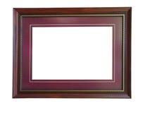 Lege houten omlijsting Royalty-vrije Stock Afbeeldingen
