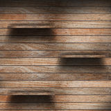 Lege houten plank royalty-vrije stock afbeelding