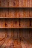 Lege houten plank. grunge industrieel binnenland stock fotografie