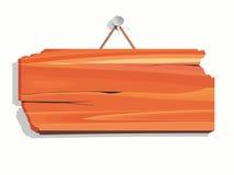 Lege houten raad stock illustratie